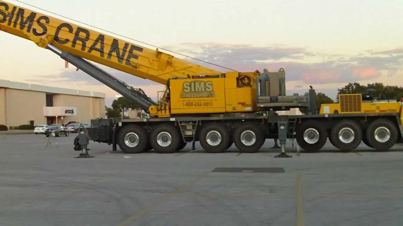 Huge crane grove omk7550 gmk7450 mobile crane youtube for Crane grove