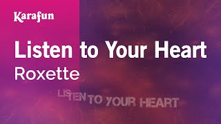 Gambar cover Karaoke Listen to Your Heart - Roxette *