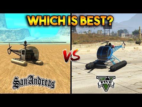 GTA 5 VS GTA SAN ANDREAS SEA SPARROW : WHICH IS BEST?