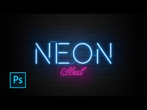 How to Create Neon Text Effect with Photoshop - Photoshop Text Effect Tutorials
