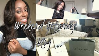 WEEKEND GETAWAY VLOG - COME DESIGNER SHOPPING WITH ME IN BICESTER VILLAGE & NIGHT TIME ROUTINE