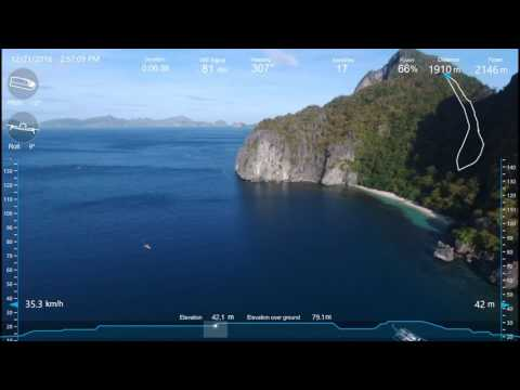 Bebop 2: El Nido - 2km flight over South China Sea