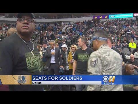 Jeff K - Dallas Mavericks Host Annual 'Seats For Soldiers'