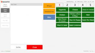 A quick demo on creating tables, the table screen and custom layout with background picture.