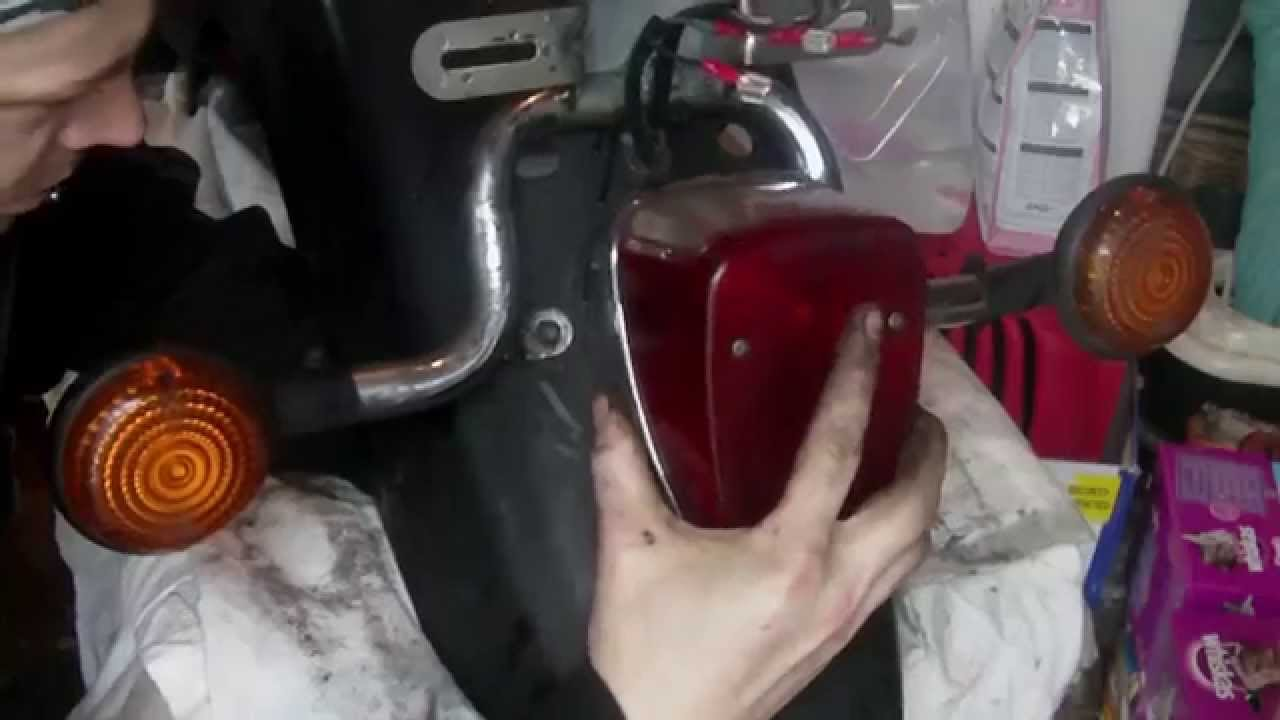 Rear Fender Deconstruction  Yamaha XVS 650 A  YouTube