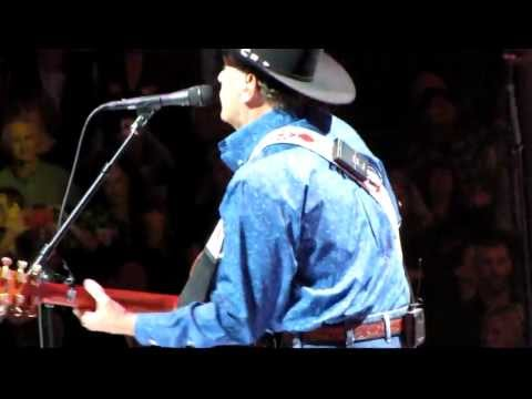 George Strait opening his show;