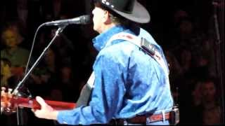 "George Strait opening his show; ""Here For a Good Time."""