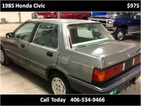 Honda Billings Mt >> 1985 Honda Civic Used Cars Billings MT - YouTube