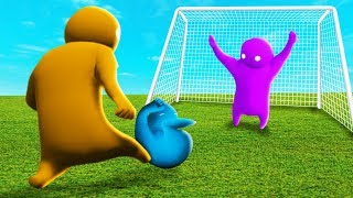 KICK HIM INTO THE GOAL TO WIN! (The Pals play Gang Beasts)