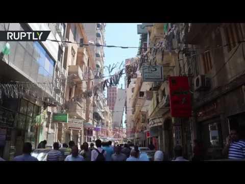 سقوط برج سكني في الإسكندرية