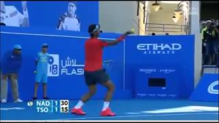 Rafael Nadal vs Jo-Wilfried Tsonga Mubadala World Tennis Championship ABU DHABI 2013-2014-highlights