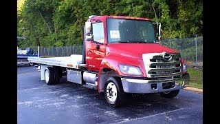 2018 Hino 258 with Jerr-Dan XLP Low Profile Deck – Stock#9153