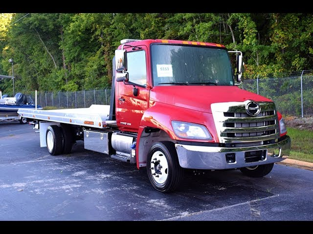 *SOLD* 2018 Hino 258 with Jerr-Dan XLP Low Profile Deck – Stock#9153