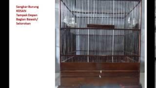 Sangkar Burung KOSAN Solo Halus untuk Burung Cendet / Pentet dan Cucak Ijo /Cucak Hijau