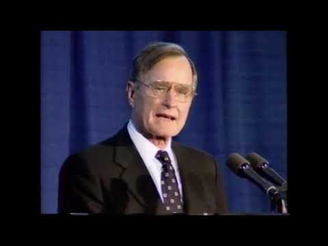 President George H. W. Bush's Farewell Visit to CIA