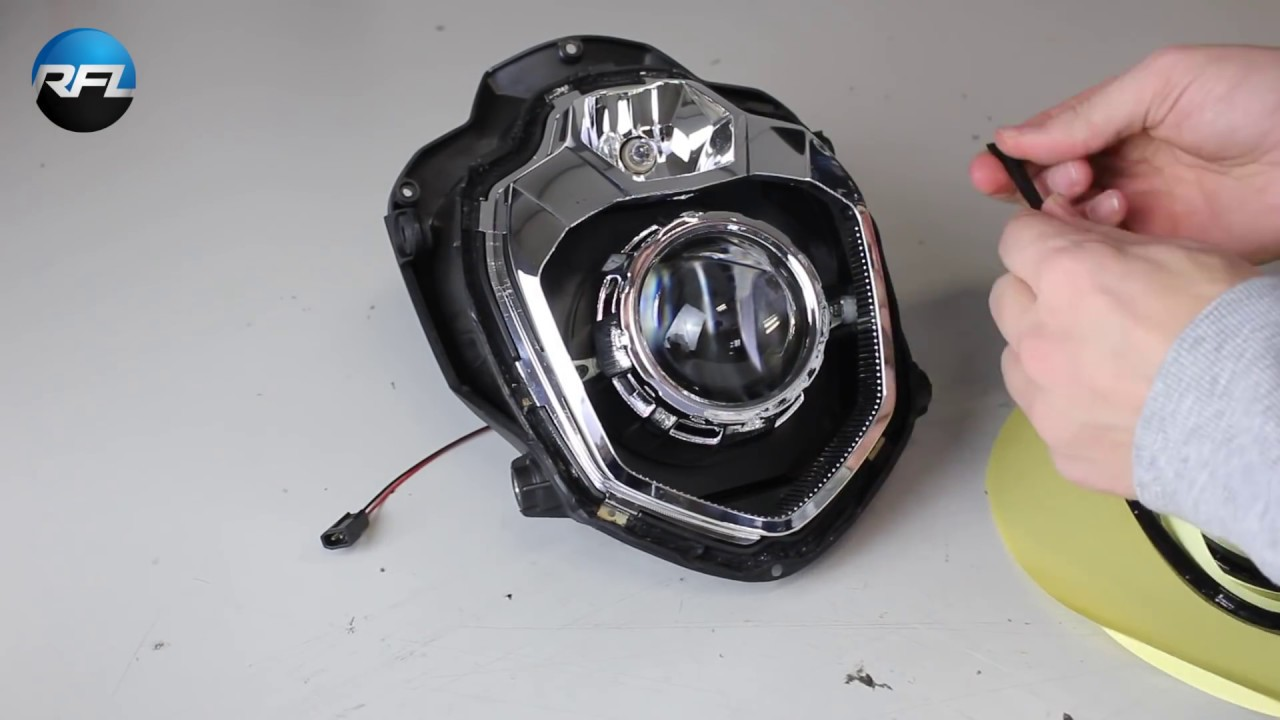 Hid Bi Xenon Motorcycle Projector Yamaha R1 04 Wiring Diagram 61 Mt 03 Maxresdefault Installation With Own Designed At