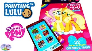 My Little Pony Painting Lulu Paper To Digital Coloring MLP App Surprise Egg and Toy Collector SETC