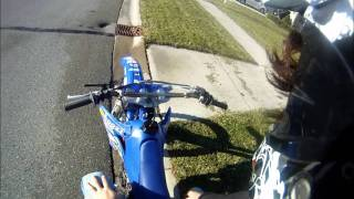 YZ250F pulled over by cops