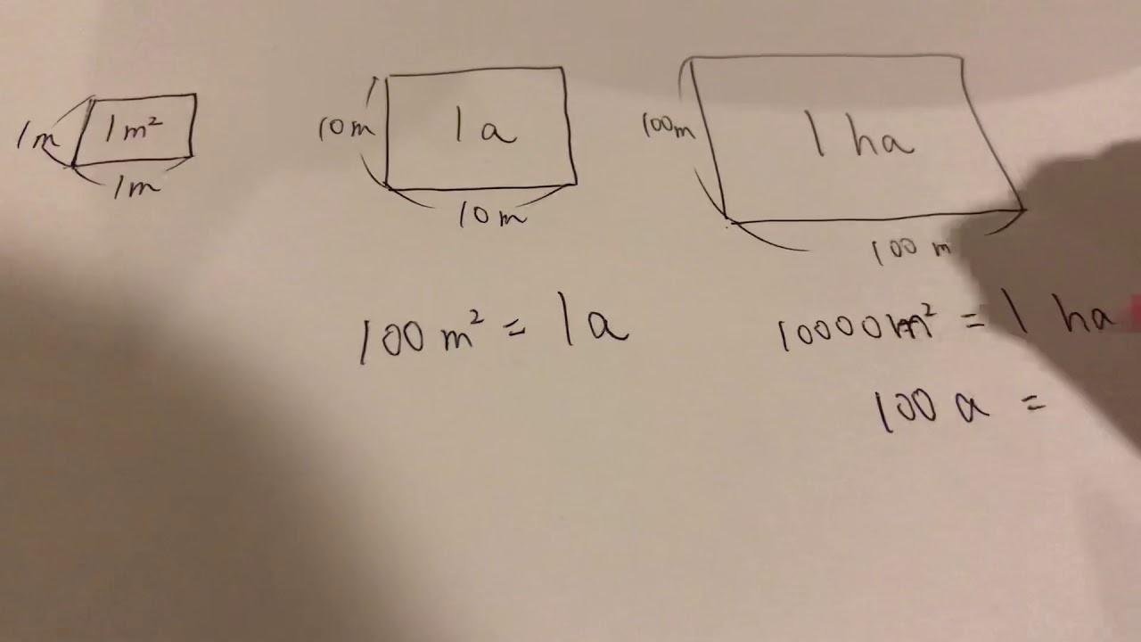1 アール は 何 平方メートル
