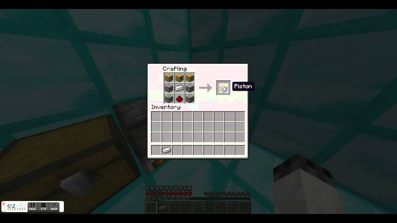 minecraft crafting recipes episode 1 pistons and sticky