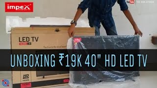 "Impex Gloria 39 | 40"" affordable HD LED TV 