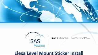 Elexa Level Mount Sticker Install