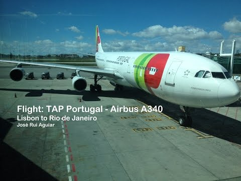 Flight TAP Portugal Airbus A340 Lisbon Airport to Rio de Janeiro GIG Turbulence Area
