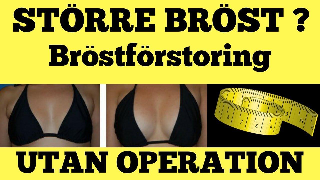 hur får man större bröst utan operation