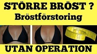 bröstförstoring utan silikon