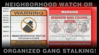 Neighborhood Watch Or Community Harassment And Organized Stalking