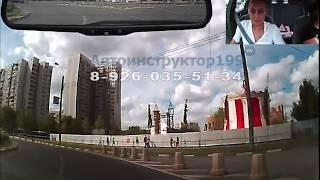 Уроки вождения для начинающих  Езда по городу р н ВАО  Часть 2  Автоинструктор Ольга