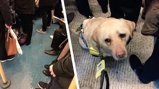 Dem Blinden kommen im Zug die Tränen. Der Grund ist un...