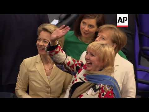 German parliament elects Merkel for fourth term as chancellor