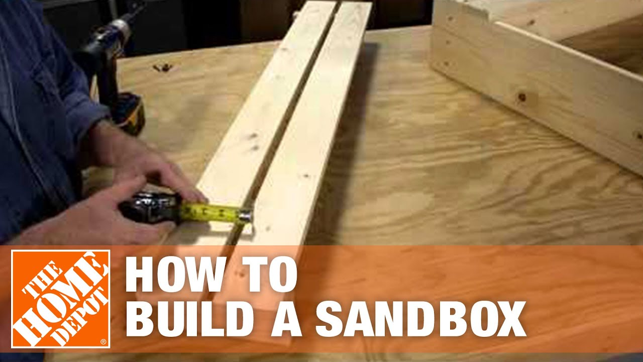 How To Build A Sandbox The Home Depot