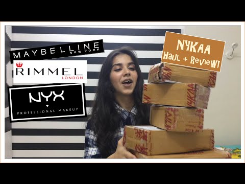 Huge Nykaa Haul + Review - Makeup And Skincare | Heli