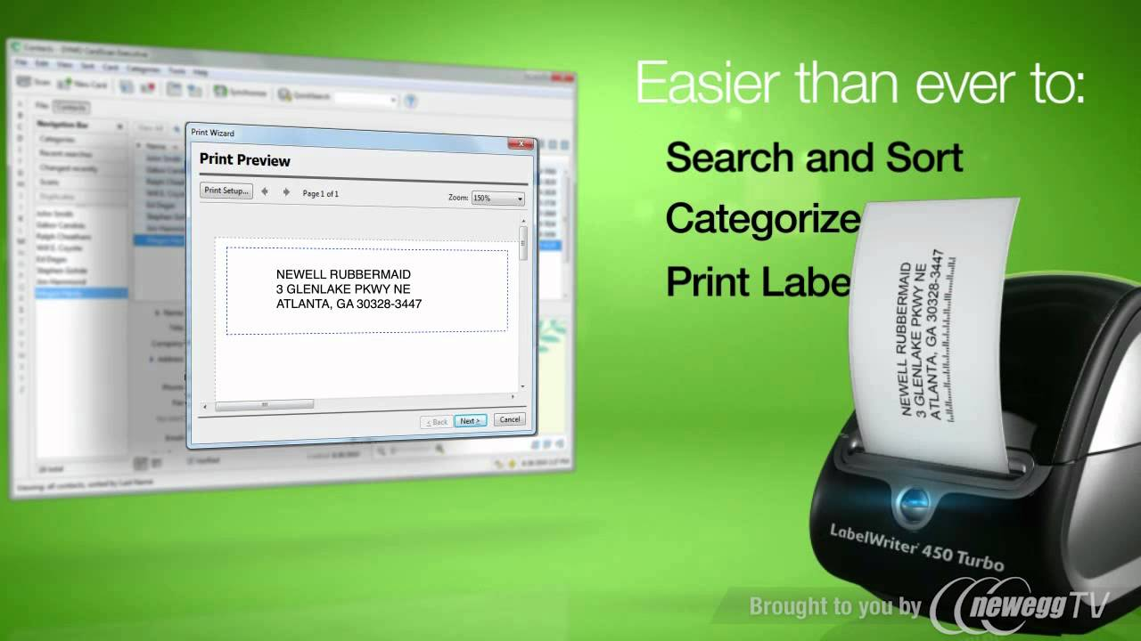 Product Tour: DYMO CardScan Executive V9 Business Card Scanner - YouTube