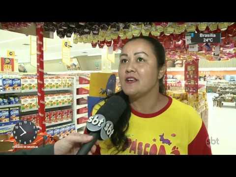 Ovos de Páscoa ficam quase 50% mais baratos na Sexta-feira Santa - SBT Brasil (14/04/17)
