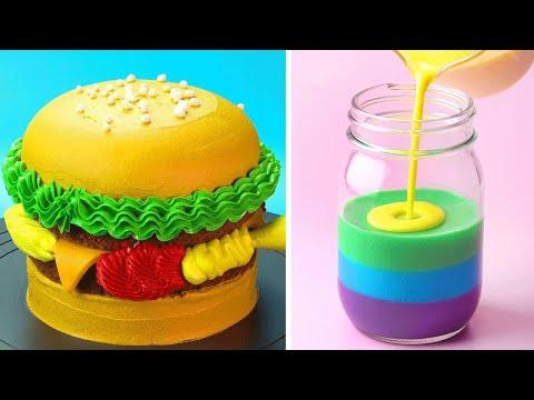 Perfect Hamburger Cake Decoration You'll Love | Most Satisfying Cake Decorating Tutorials | So Yummy