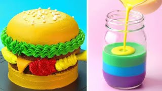 Perfect Hamburger Cake Decoration You'll Love | Most Satisfying Cake Decorating Tutorials | So Yummy