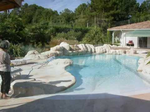 D cor piscine faux rochers roc d cor youtube for Decoration piscine