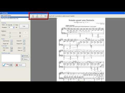 Scanning Sheet Music