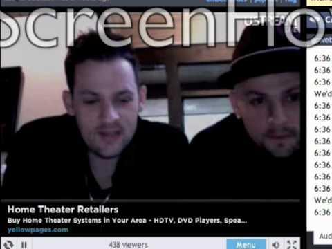 Joel & Benji Madden Live Chat 42710 pt.1