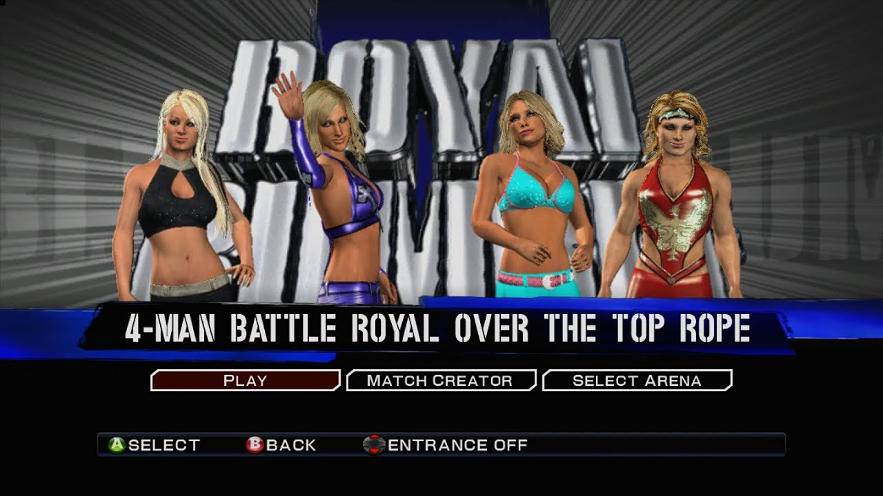 Wwe Smackdown Vs Raw 2011 4 Way Diva Battle Royal Youtube