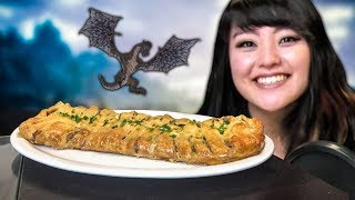 COOKING SKYRIM FOODS! (Sausage Braided Bread & Velvet LeChance)