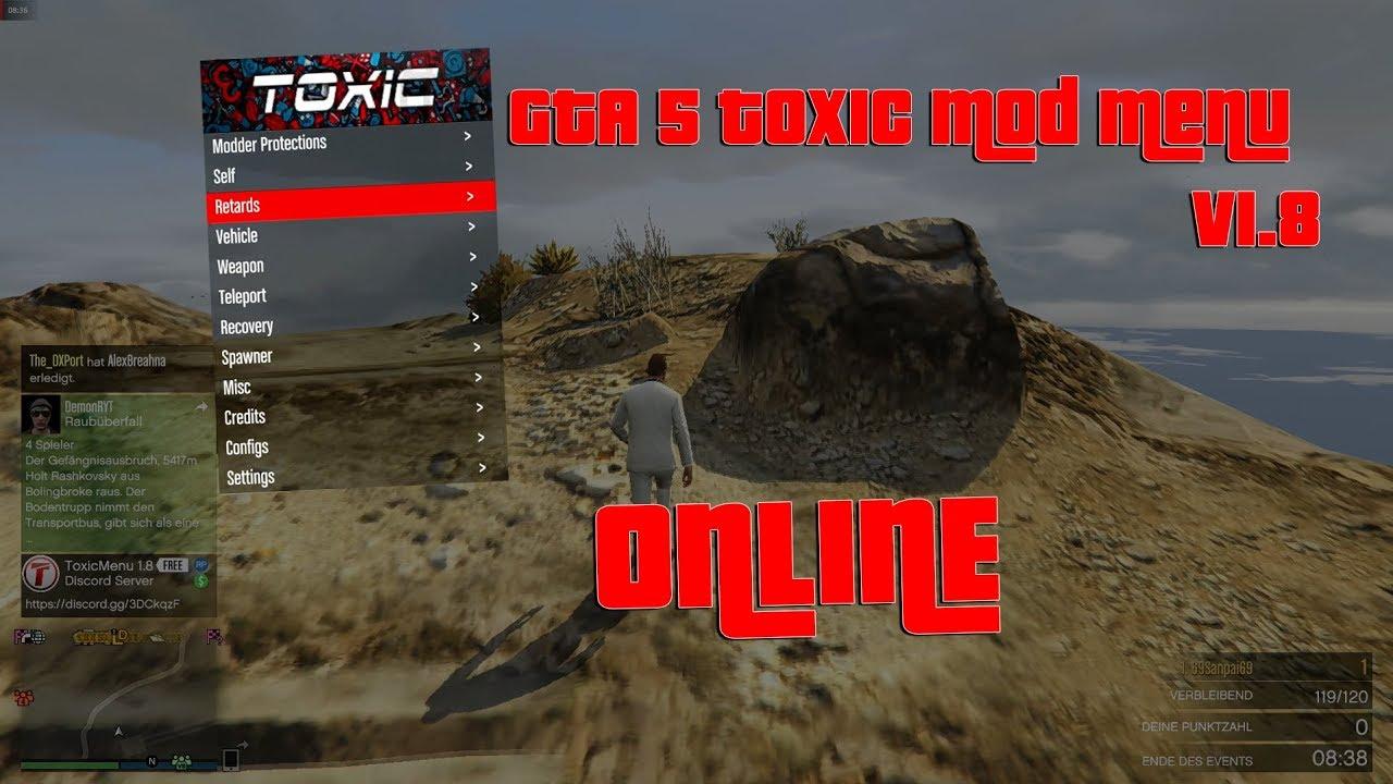 GTA Online Mod Menu Toxic GermanPC YouTube - Minecraft offline spieler teleportieren