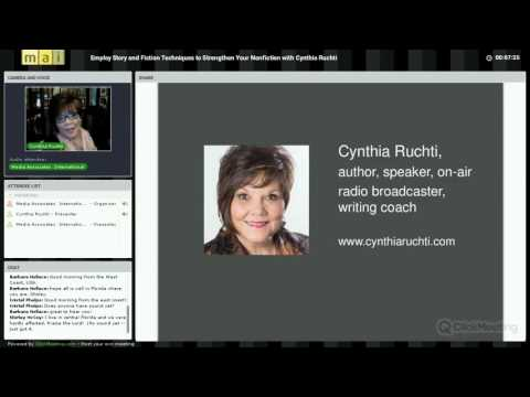 Employ Story and Fiction Techniques to Strengthen Your Nonfiction with Cynthia Ruchti