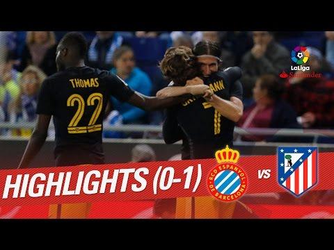 Resumen de RCD Espanyol vs Atlético de Madrid (0-1)
