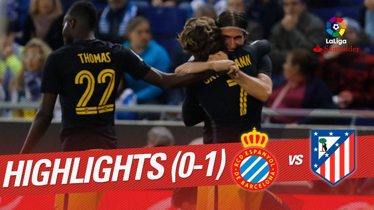 Resumen De Rcd Espanyol Vs Atlético De Madrid 0 1 Youtube
