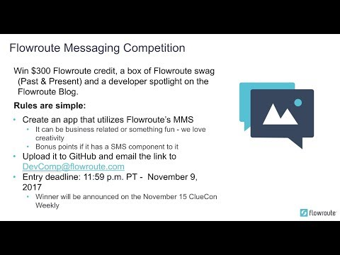 ClueCon Weekly - November 1st 2017 - Flowroute - YouTube