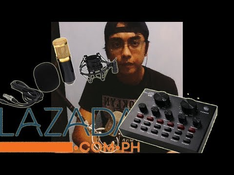 Sound Card V8 + Bm 800|Review|Unboxing|Testing| From Lazada. Tagalog